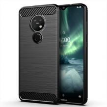 Силиконов калъф / гръб / TPU за Nokia 6.2 - черен / carbon