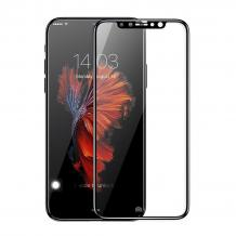 Удароустойчив скрийн протектор / FLEXIBLE Nano Screen Protector / за дисплей на Apple iPhone X / iPhone XS - черен