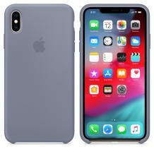 Оригинален гръб Silicone Cover за Apple iPhone XR - лавандулово сиво
