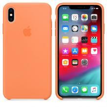 Оригинален гръб Silicone Cover за Apple iPhone XS MAX - цвят праскова