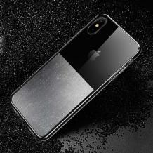 Луксозен силиконов гръб USAMS Yzon YZ02 за Apple iPhone XS MAX - блестящ