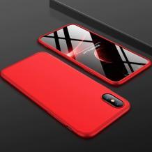 Твърд гръб Magic Skin 360° FULL за Samsung Galaxy A7 2018 A750F - червен