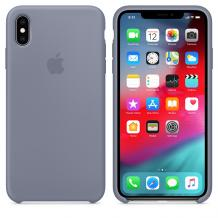 Оригинален гръб Silicone Cover за Apple iPhone XS MAX - лавандулово сиво