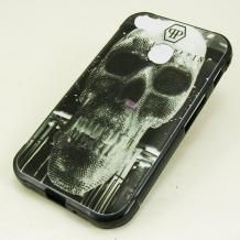 Силиконов калъф / гръб / TPU за Xiaomi Mi A1 / 5X - черен / череп