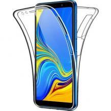 Tвърд гръб 360° със силиконова част за Xiaomi Redmi Note 10 5G - прозрачен