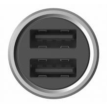 Оригинално зарядно за кола DC 12V - 24V / 2.4A / 2 USB Ports за Xiaomi - сиво