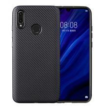 Силиконов калъф / гръб / TPU за Huawei Y6 2019 - черен / карбон