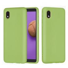 Луксозен силиконов калъф / гръб / Nano TPU за Samsung Galaxy A01 - зелен