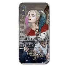 Луксозен стъклен твърд гръб за Samsung Galaxy A10 - Poker Face Girl