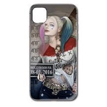 """Луксозен стъклен твърд гръб за Apple iPhone 11 Pro 5.8"""" - Poker Face Girl"""