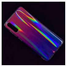 Силиконов калъф / гръб / TPU Rainbow за Samsung Galaxy A20e - преливащ / розово и лилаво