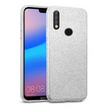 Силиконов калъф / гръб / TPU за Samsung Galaxy A20s - сребрист / брокат