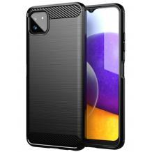 Силиконов калъф / гръб / TPU за Samsung Galaxy A22 5G - черен / carbon