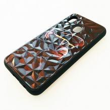 Луксозен твърд гръб 3D за Samsung Galaxy A40 - маймуна / черна призма