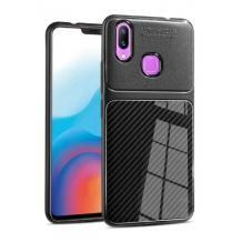 Луксозен силиконов калъф / гръб / TPU Auto Focus за Samsung Galaxy A30 - черен / Carbon