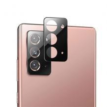 Стъклен протектор / 3D Tempered Glass Camera Lens / за задна камера на Samsung Galaxy A41 - черен