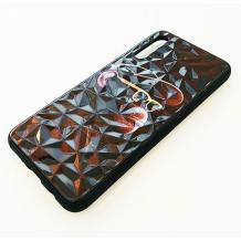 Луксозен твърд гръб 3D за Samsung Galaxy A50/A30s/A50s - маймуна / черна призма