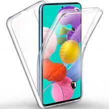 Силиконов калъф / гръб / TPU 360° за Apple iPhone X / iPhone XS - прозрачен / 2 части / лице и гръб