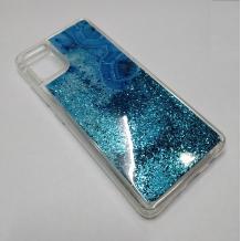 Луксозен силиконов калъф / гръб / tpu 3D Water Case за Samsung Galaxy A51 - мрамор / син брокат