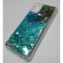 Луксозен силиконов калъф / гръб / tpu 3D Water Case за Samsung Galaxy A51 - мрамор / зелен брокат