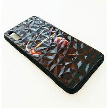 Луксозен твърд гръб 3D за Samsung Galaxy A70 - маймуна / черна призма