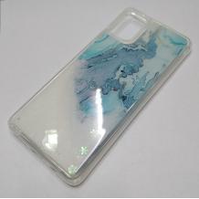 Луксозен силиконов калъф / гръб / tpu 3D Water Case за Samsung Galaxy A71 - мрамор / бял брокат