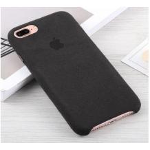 Луксозен гръб Leather Alcantara Case за Apple iPhone 7 / iPhone 8 - Черен