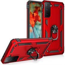 Силиконов гръб Spigen със стойка и магнитно захващане за Samsung Galaxy S21 – червен