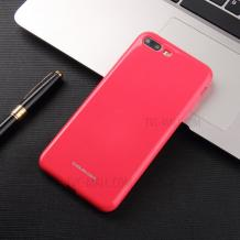 Силиконов калъф / гръб / Molan Cano Glossy Jelly Case за Apple iPhone 7 Plus / iPhone 8 Plus - розов / гланц / брокат