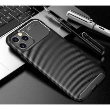 Луксозен силиконов калъф / гръб / TPU Auto Focus за Apple iPhone 12 /12 Pro 6.1'' - черен / Carbon