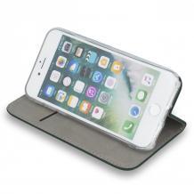 Кожен калъф Flip тефтер Flexi bSmart Magnetic Book със стойка за Samsung Galaxy A02s - черен