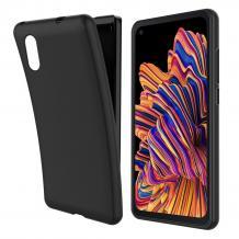 Силиконов калъф / гръб / TPU за Samsung Galaxy Xcover Pro - черен / мат