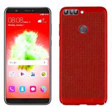Луксозен твърд гръб за Xiaomi Redmi Note 5A - червен / Grid