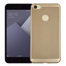 Твърд гръб за Xiaomi RedMi Note 5A Prime - златист / Grid