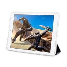 Кожен калъф / Smart Cover / със стойка за Apple iPad 5 AIR / iPad Air - черен