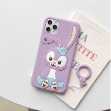 Силиконов калъф / гръб / TPU 3D за Apple iPhone 6 / iPhone 7 / iPhone 8 / iPhone SE2 2020 - Cartoon Duffy Rabbit / лилав
