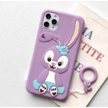Силиконов калъф / гръб / TPU 3D за Apple iPhone 11 6.1' - Cartoon Duffy Rabbit / лилав