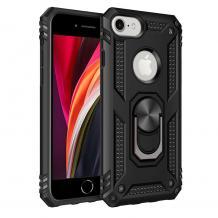 Силиконов гръб Spigen със стойка и магнитно захващане за Apple iPhone 5 / iPhone 5S / iPhone SE – черен