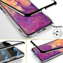 Магнитен калъф Bumper Case 360° FULL за Samsung Galaxy A70 - прозрачен / черна рамка
