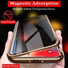 Магнитен калъф Bumper Case 360° FULL за Xiaomi Redmi Note 8 Pro - прозрачен / златиста рамка