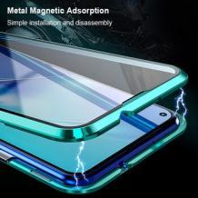 Магнитен калъф Bumper Case 360° FULL за Xiaomi Redmi 8 - прозрачен / зелена рамка