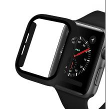 Луксозен кейс 2in1 3D 360° Full Cover Tempered glass за Apple Watch Series 44mm - черен