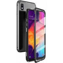 Магнитен калъф Bumper Case 360° FULL за Samsung Galaxy A10/M10 - прозрачен / черна рамка