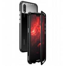 Магнитен калъф Bumper Case 360° FULL за Xiaomi Redmi Note 7- прозрачен / черен рамка