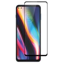 3D full cover Tempered glass Full Glue screen protector Motorola Moto G 5G Plus / Извит стъклен скрийн протектор с лепило от вътрешната страна за Motorola Moto G 5G Plus - черен