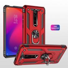 Силиконов гръб Spigen със стойка и магнитно захващане за Xiaomi Mi 9T - червен