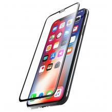 5D Full Cover Nano Anti-Shock Glass Screen Protector Apple iPhone XR / 5D извит скрийн протектор за Apple iPhone XR - черен