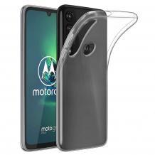 Ултра тънък силиконов калъф / гръб / TPU Ultra Thin за Motorola Moto G8 Plus - прозрачен