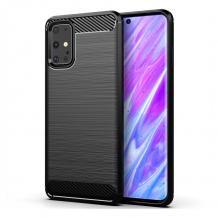 Силиконов калъф / гръб / TPU за Samsung S20 FE - черен / carbon