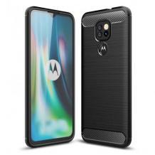 Силиконов калъф / гръб / TPU за Motorola Moto E7 Plus - черен / carbon